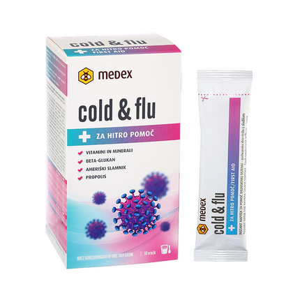 Cold & Flu 10x10g , Medex