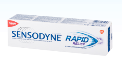 Zobna pasta rapid relief 75 ml, Sensodyne
