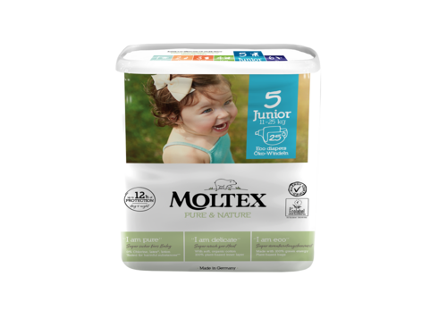 Moltex Pure & Nature junior otroške plenice 11-25 kg, 25 kos