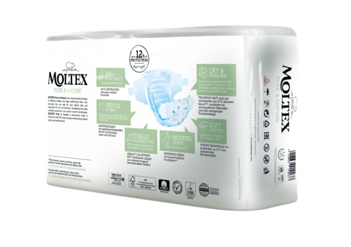 Moltex Pure & Nature otroške plenice  mini 3-6 kg, 38 kos