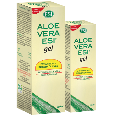 ESI ALOE VERA gel s čajevcem in vitaminom E, 100 ml