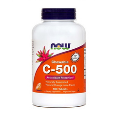 Vitamin C 500 mg 100 tbl, NOW
