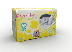 Bbcash Freelife otroške plenice - new born 2 - 4 kg, 28 kos