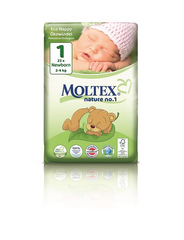 Moltex Nature Eco NO.1  New born, 2-4 kg,1pkt