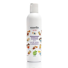 Gel za prhanje in šampon 2v1 KIDS Aloje vera & Jagodičevje 250ml, Essentiq