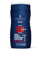 Men 5D sensitive oljni gel za britje in prhanje 250 ml , Afrodita