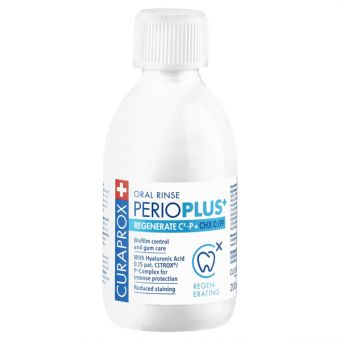 Perio plus regenerate ustna voda, CHX 0,09, 200ml, Curaprox